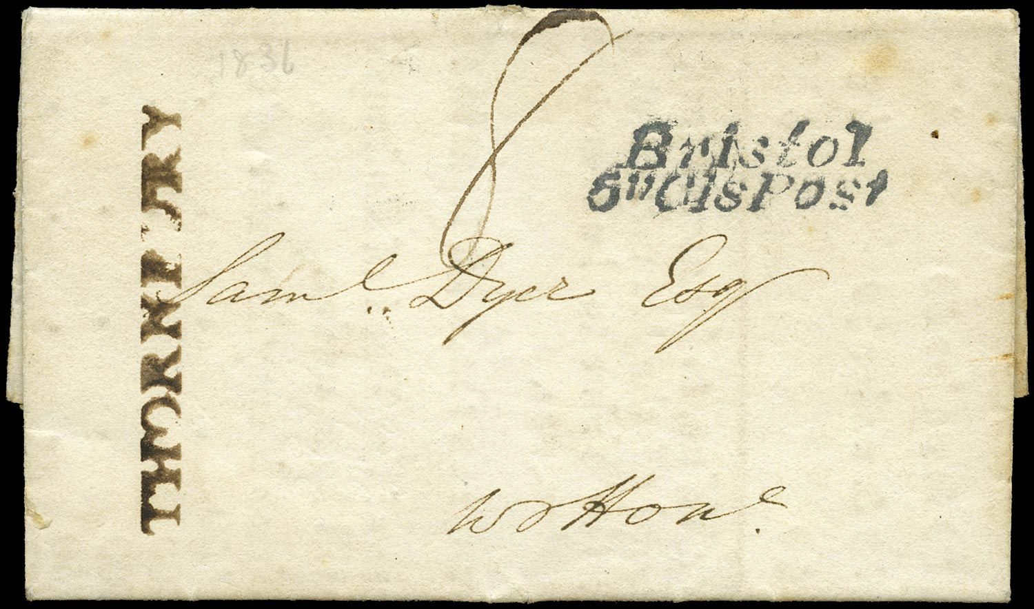 GB 1836 Pre-Stamp -