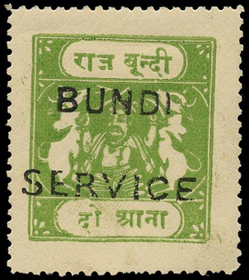 I.F.S. BUNDI 1915  SGO50C Official