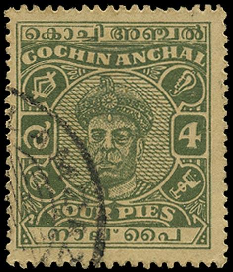 I.F.S. COCHIN 1946  SG103 Used