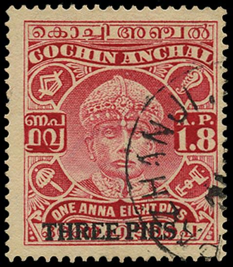 I.F.S. COCHIN 1942  SG75 Used