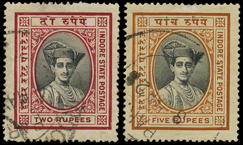I.F.S. INDORE 1927  SG31/2 Used