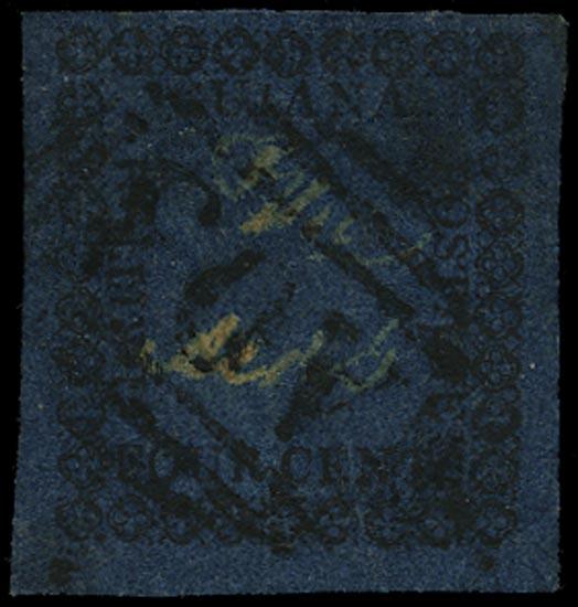 BRITISH GUIANA 1862  SG123 Used 4c blue type 14