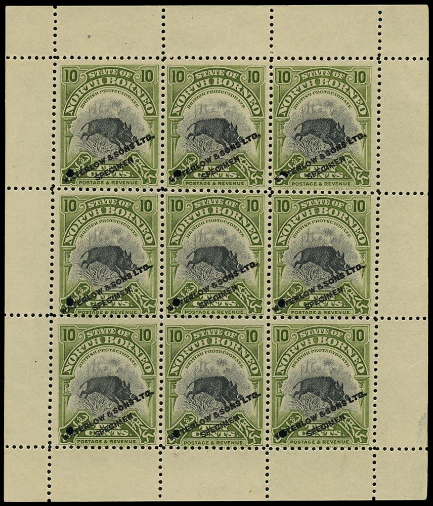 NORTH BORNEO 1909  SG170 Proof