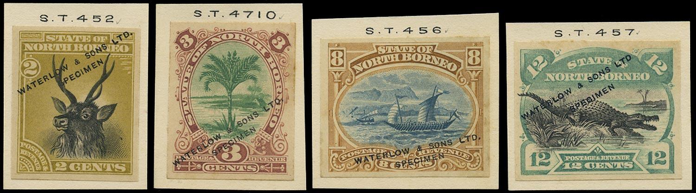 NORTH BORNEO 1894  SG68, 70, 74/5 Proof