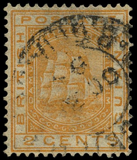 BRITISH GUIANA 1882  SG171x Used 2c orange Ship variety watermark reversed