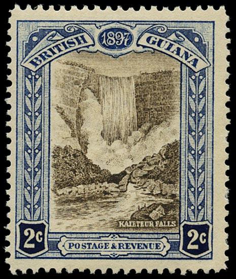 BRITISH GUIANA 1898  SG217x Mint 2c brown and indigo variety watermark reversed