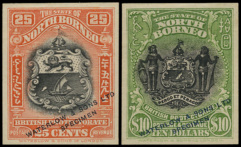 NORTH BORNEO 1911  SG178, 183 Proof