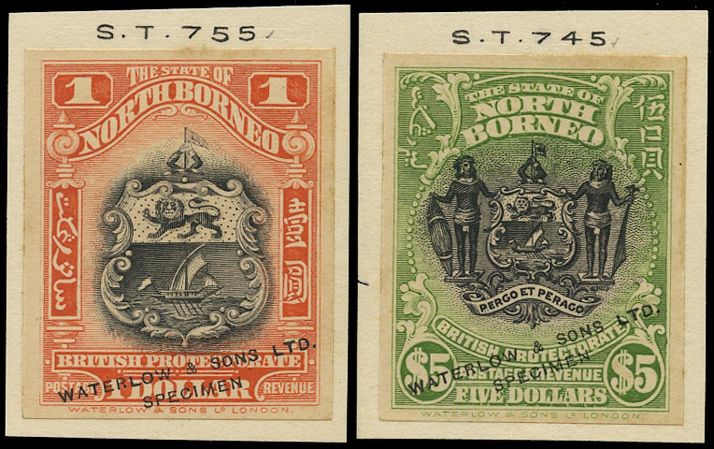 NORTH BORNEO 1911  SG180, 182 Proof