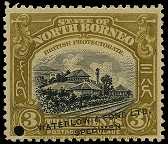 NORTH BORNEO 1909  SG161 Proof