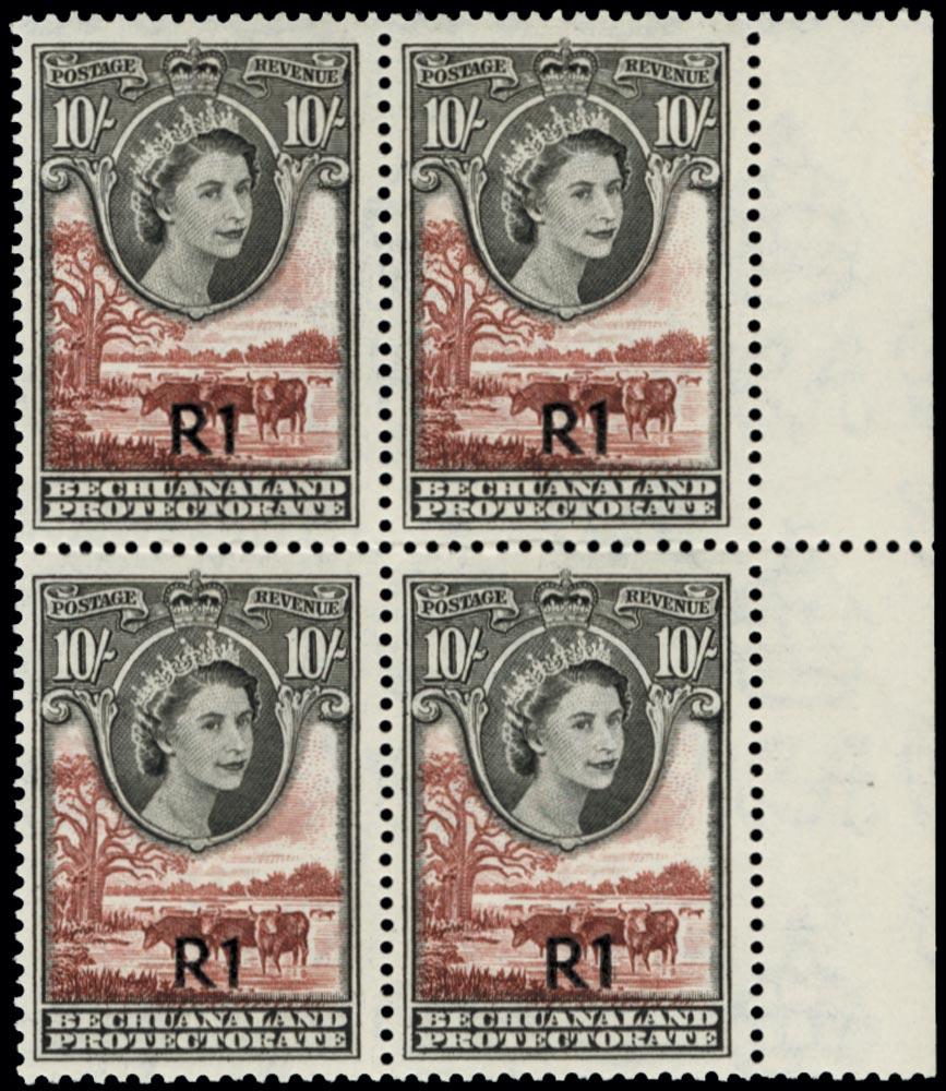 BECHUANALAND   SG167 Mint Type I Block of Four