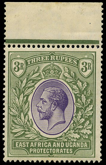 KUT 1921  SG73 Mint unmounted KGV 3r violet and green Script watermark