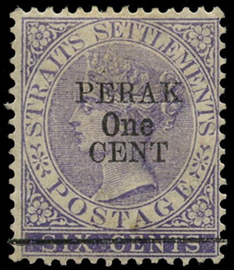 MALAYA - PERAK 1891  SG47 Mint