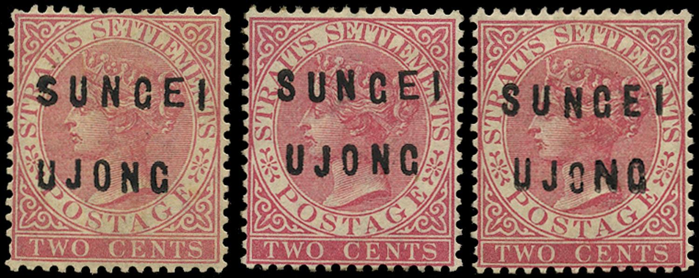 MALAYA - S. UJONG 1882  SG19/21 Mint
