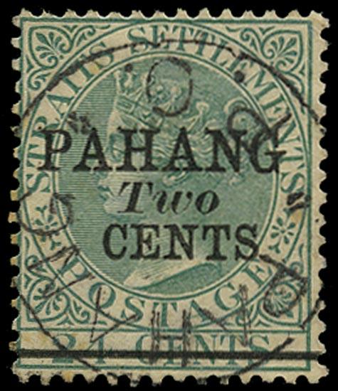 MALAYA - PAHANG 1891  SG8 Used
