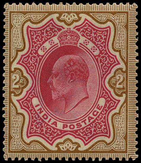 INDIA 1902  SG138 Mint KEVII 2r rose-red and yellow-brown