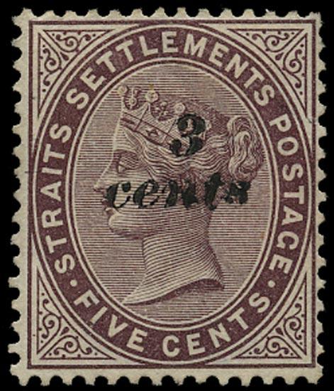MALAYA - STRAITS 1886  SG84 Mint