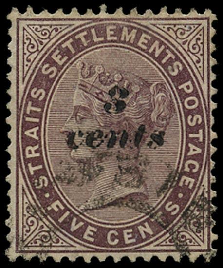 MALAYA - STRAITS 1886  SG84 Used