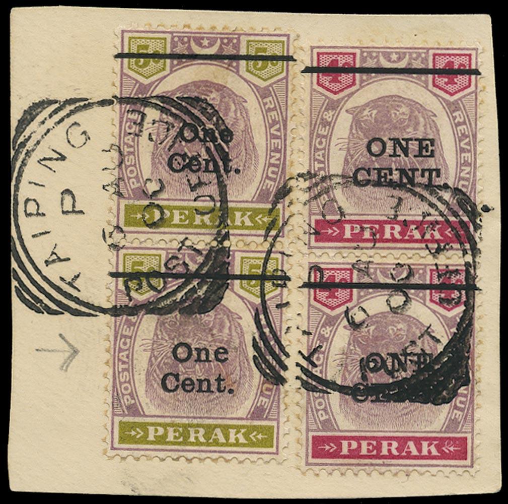 MALAYA - PERAK 1900  SG82, 83/a Used