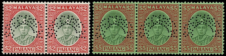 MALAYA - PAHANG 1935  SG45s, 46s Specimen