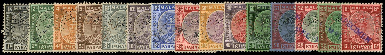 MALAYA - PAHANG 1935  SG29s/46s var Specimen