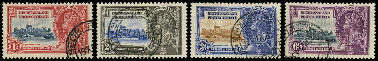 BECHUANALAND 1935  SG111/14 Used Silver Jubilee set of 4