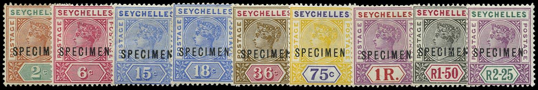 SEYCHELLES 1897  SG28s/36s Specimen