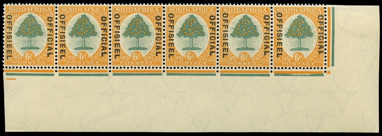 SOUTH AFRICA 1929  SGO9, var Official