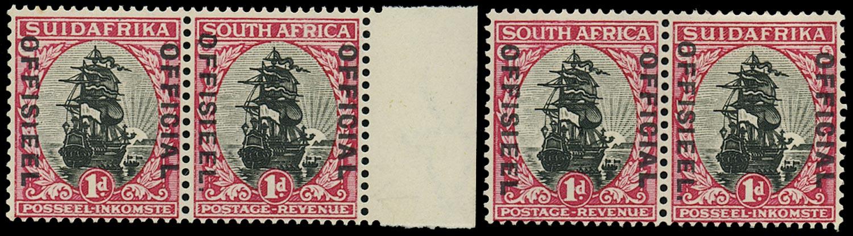 SOUTH AFRICA 1930  SGO13a, b Official