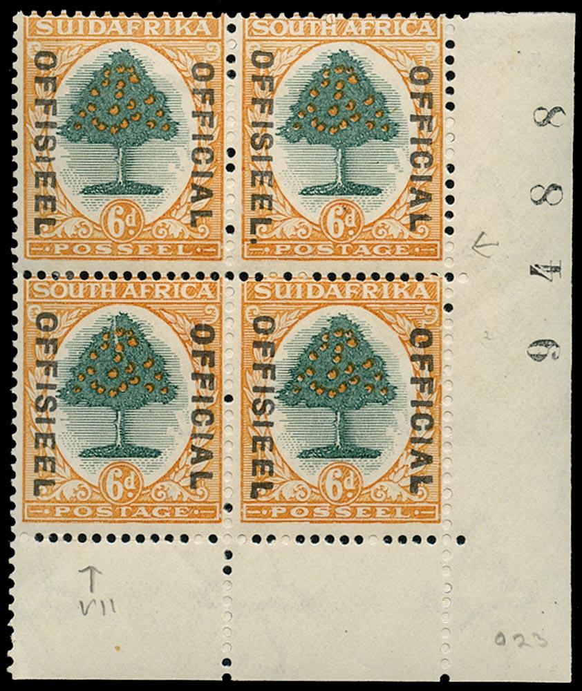 SOUTH AFRICA 1930  SGO16/a, var Official