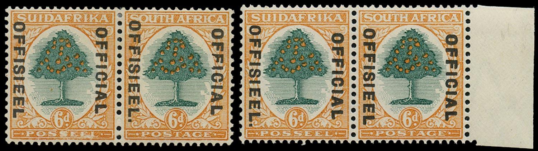 SOUTH AFRICA 1930  SGO16a, O16b Official