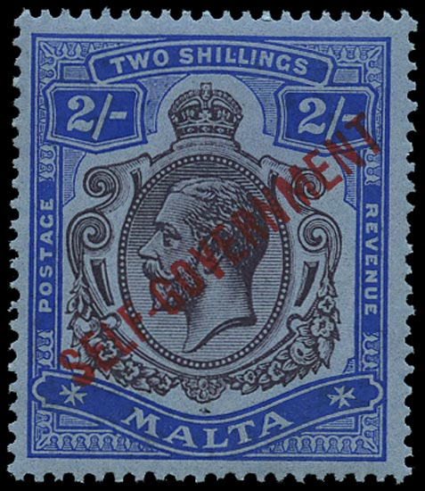 MALTA 1922  SG111 Mint unmounted Self-Government 2s purple and blue watermark MCA