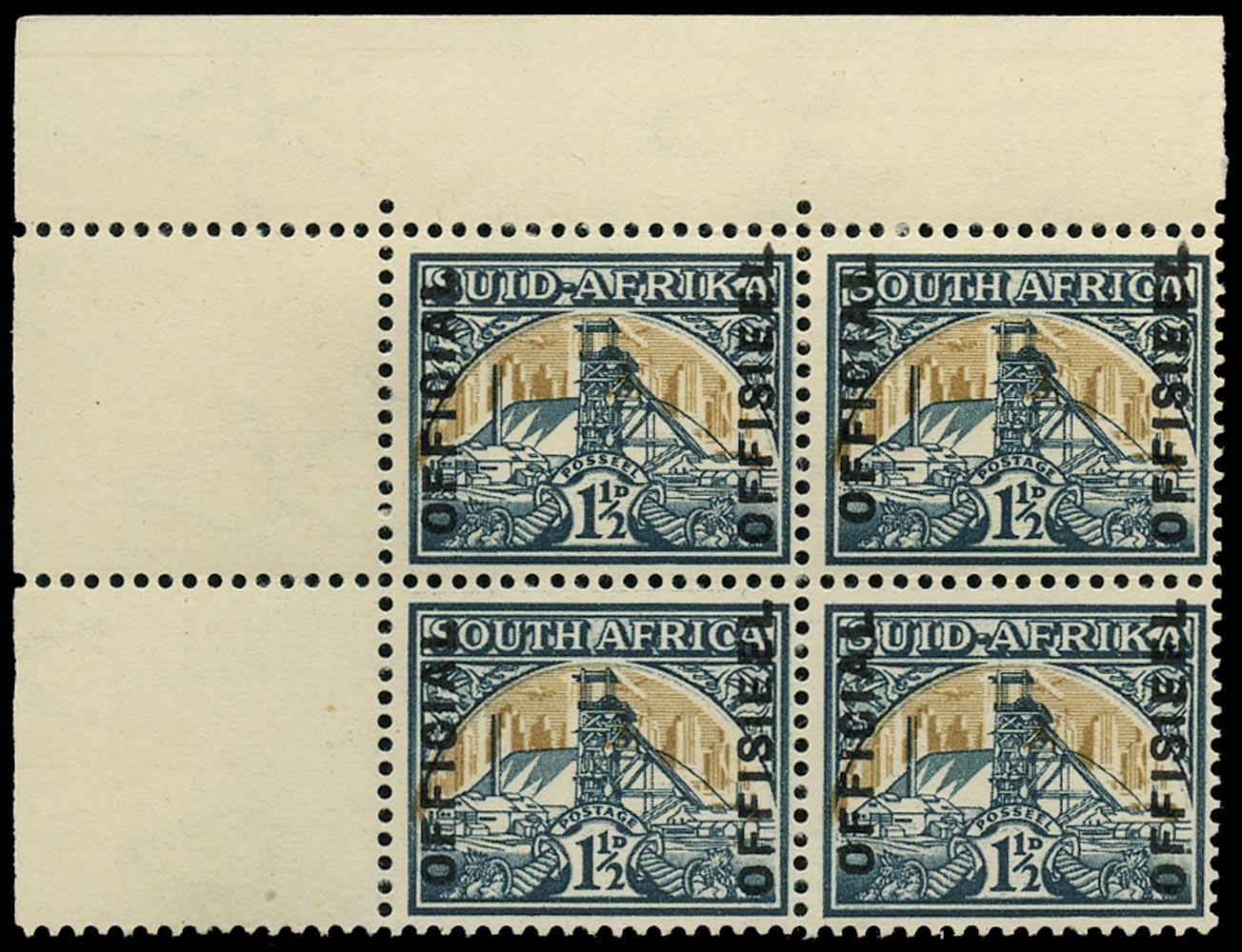SOUTH AFRICA 1949  SGO34 Official