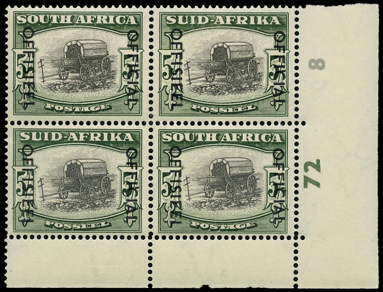 SOUTH AFRICA 1950  SGO50a Official