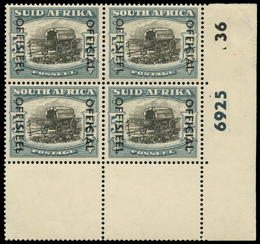 SOUTH AFRICA 1950  SGO50/aa Official
