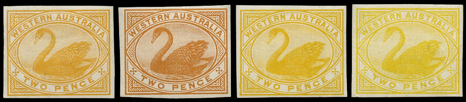 WESTERN AUSTRALIA 1898  SG113 Proof colour trials of 2d yellow