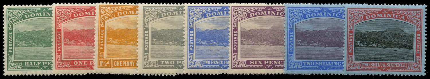 DOMINICA 1921  SG62/70 Mint set of 8 to 2s6d Script watermark