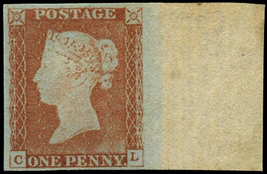GB 1841  SG9 Pl.61 Mint unused o.g. marginal example (FL)