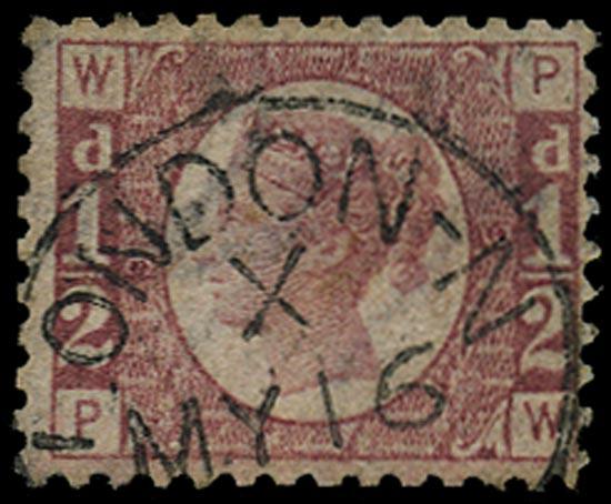 GB 1871  SG48 Pl.9 Used VFU example London cds