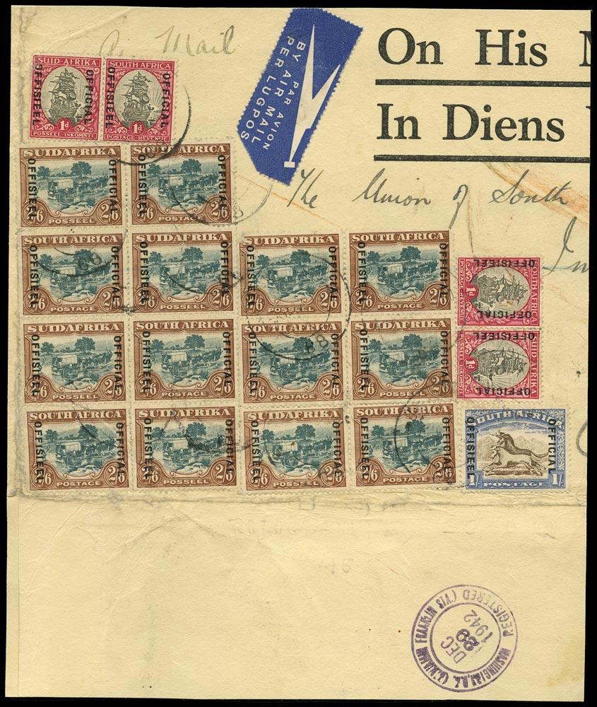 SOUTH AFRICA 1942  SGO18a, O21aw, O25 Official