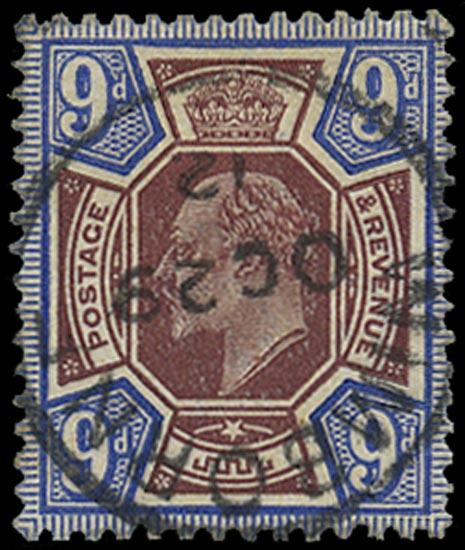 GB 1911  SG307 Used superb Wimbourne cds