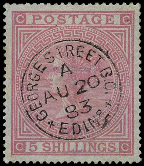 GB 1882  SG130 Pl.4 Used VFU George Street Edin cds