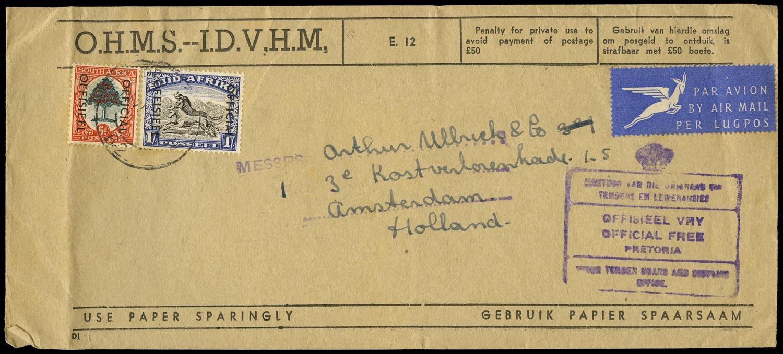 SOUTH AFRICA 1954  SGO46, O47a Official