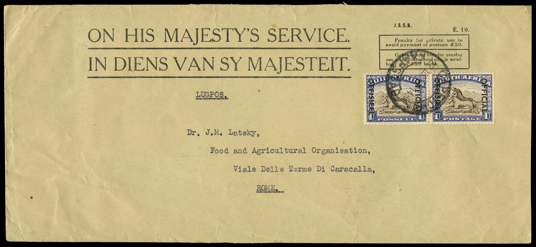 SOUTH AFRICA 1952  SGO47 Official