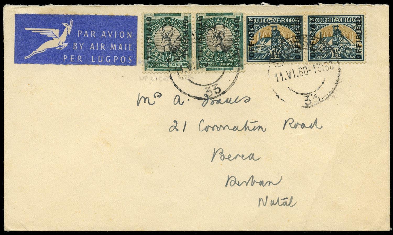 SOUTH AFRICA 1960  SGO20w, O34 Official