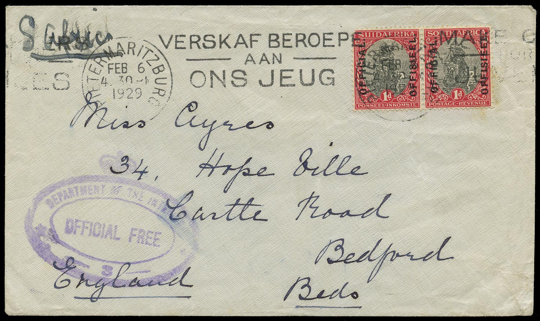 SOUTH AFRICA 1929  SGO3 Official