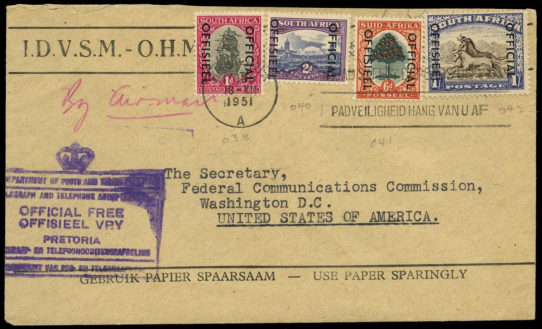 SOUTH AFRICA 1951  SGO42, O45, O46a, O47 Official