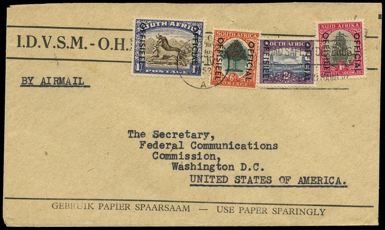 SOUTH AFRICA 1951  SGO43, O45, O46a, O47 Official