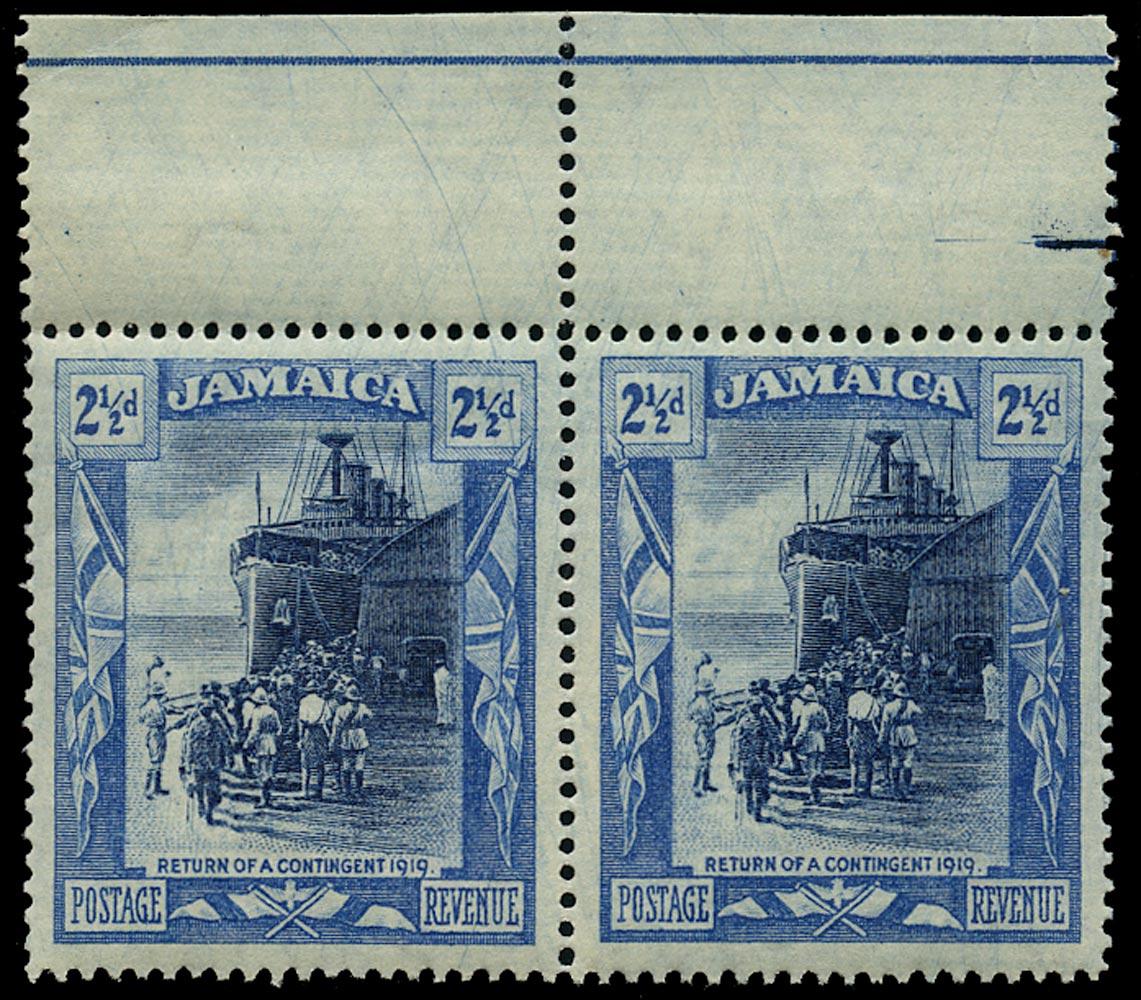JAMAICA 1919  SG82y Mint unmounted 2½d watermark MCA variety watermark inverted and reversed