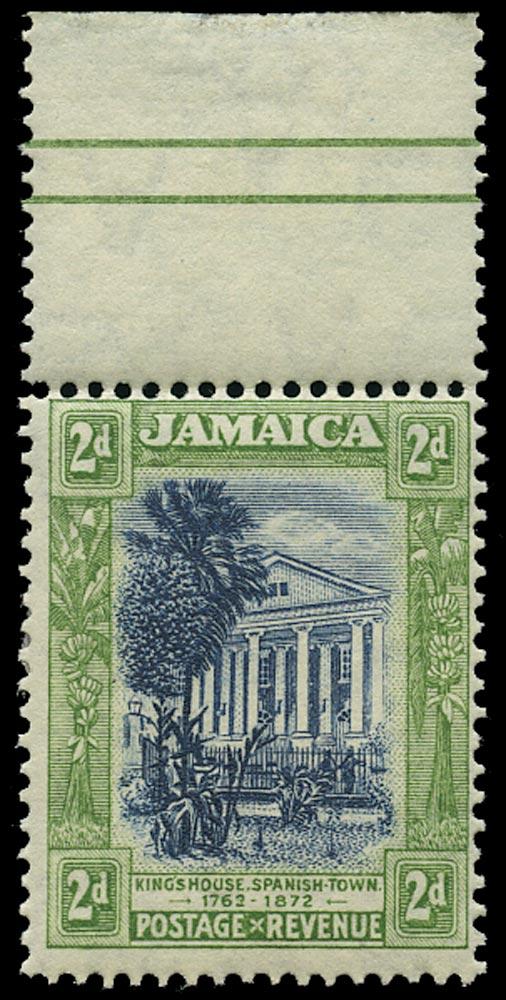 JAMAICA 1919  SG81y Mint 2d watermark MCA variety watermark inverted and reversed
