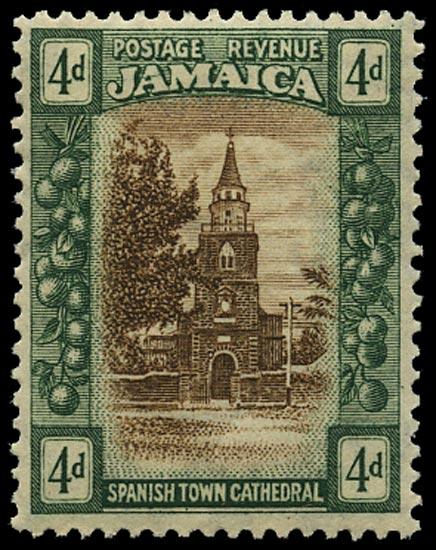 JAMAICA 1921  SG100x Mint 4d Script watermark variety watermark reversed